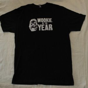 Black Star Wars Wookie of the Year T Shirt